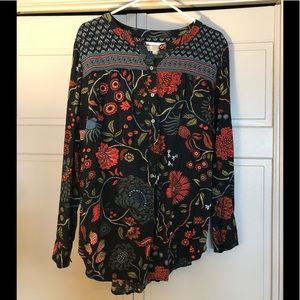 Loft flowy floral top, large. Like new!